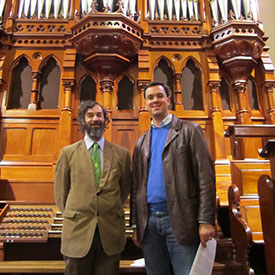 Melbourne (Australien) | Scot´s Church, Rieger-Organ, mit Daniel Zaretsky (links)