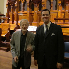 Melbourne (Australien) | Scot´s Church, Rieger-Organ, mit Douglas Lawrence (links)